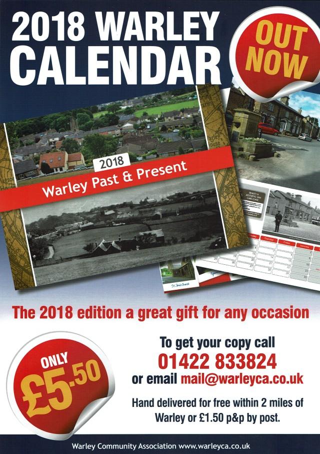 2018 calendar leaflet
